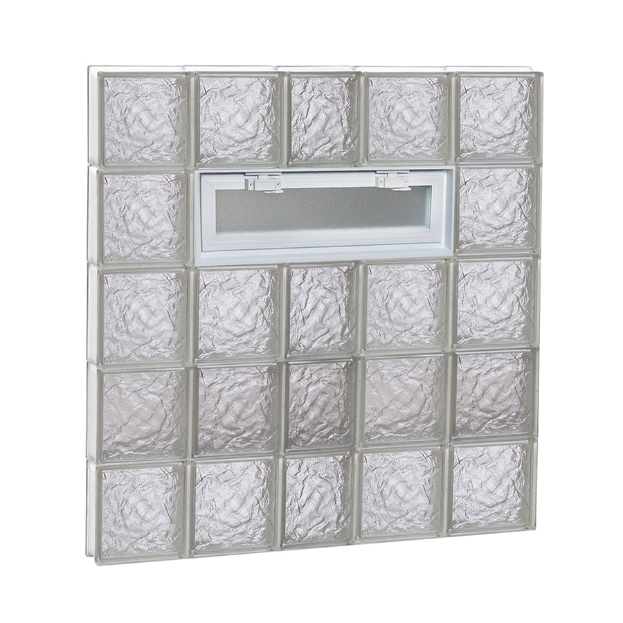 REDI2SET Ice Pattern Frameless Replacement Glass Block Window (Rough Opening: 38-in x 40-in; Actual: 36.75-in x 38.75-in)