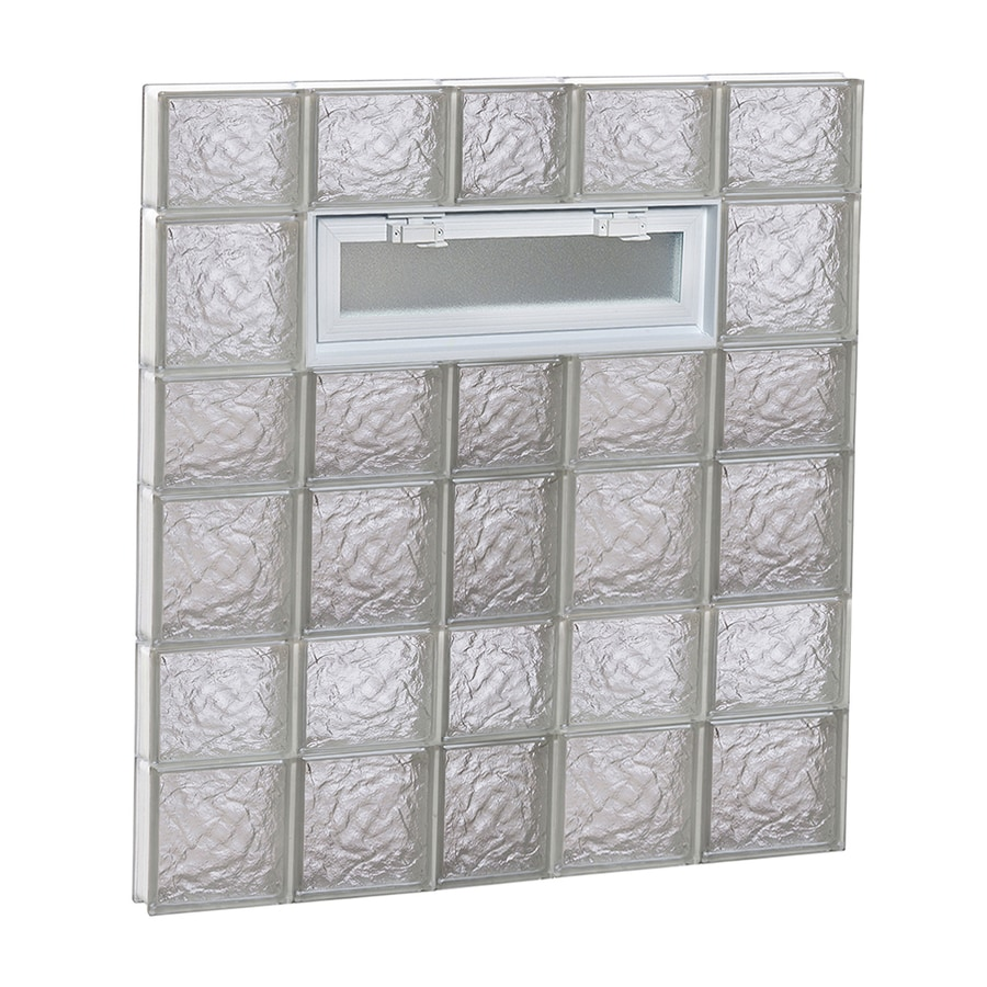 REDI2SET Ice Glass Pattern Frameless Replacement Glass Block Window (Rough Opening: 38-in x 42-in; Actual: 36.75-in x 40.5-in)