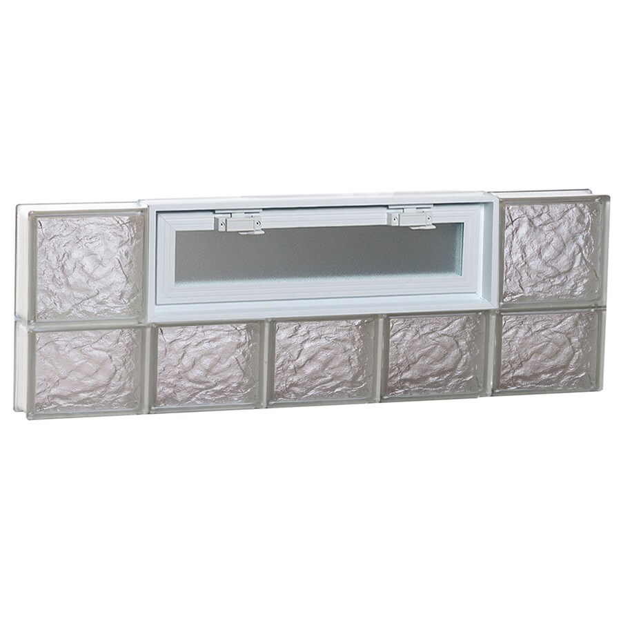 REDI2SET Ice Pattern Frameless Replacement Glass Block Window (Rough Opening: 40-in x 14-in; Actual: 38.75-in x 13.5-in)