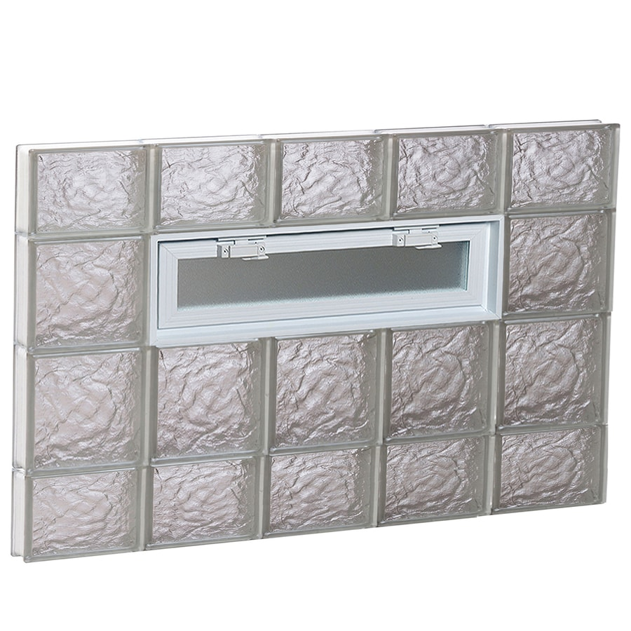 REDI2SET Ice Pattern Frameless Replacement Glass Block Window (Rough Opening: 40-in x 28-in; Actual: 38.75-in x 27-in)