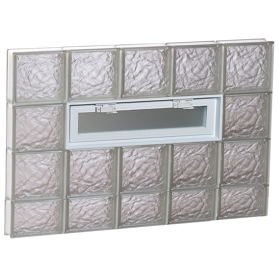 REDI2SET Ice Pattern Frameless Replacement Glass Block Window (Rough Opening: 40-in x 30-in; Actual: 38.75-in x 29-in)