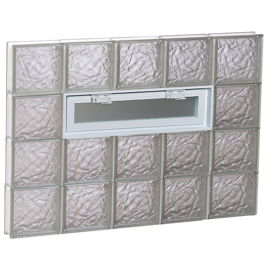 REDI2SET Ice Glass Pattern Frameless Replacement Glass Block Window (Rough Opening: 40-in x 32-in; Actual: 38.75-in x 31-in)