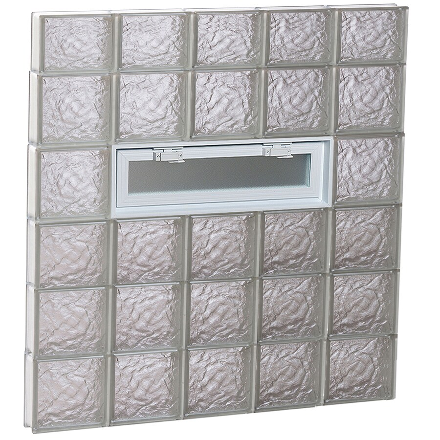 REDI2SET Ice Glass Pattern Frameless Replacement Glass Block Window (Rough Opening: 40-in x 46-in; Actual: 38.75-in x 44.5-in)