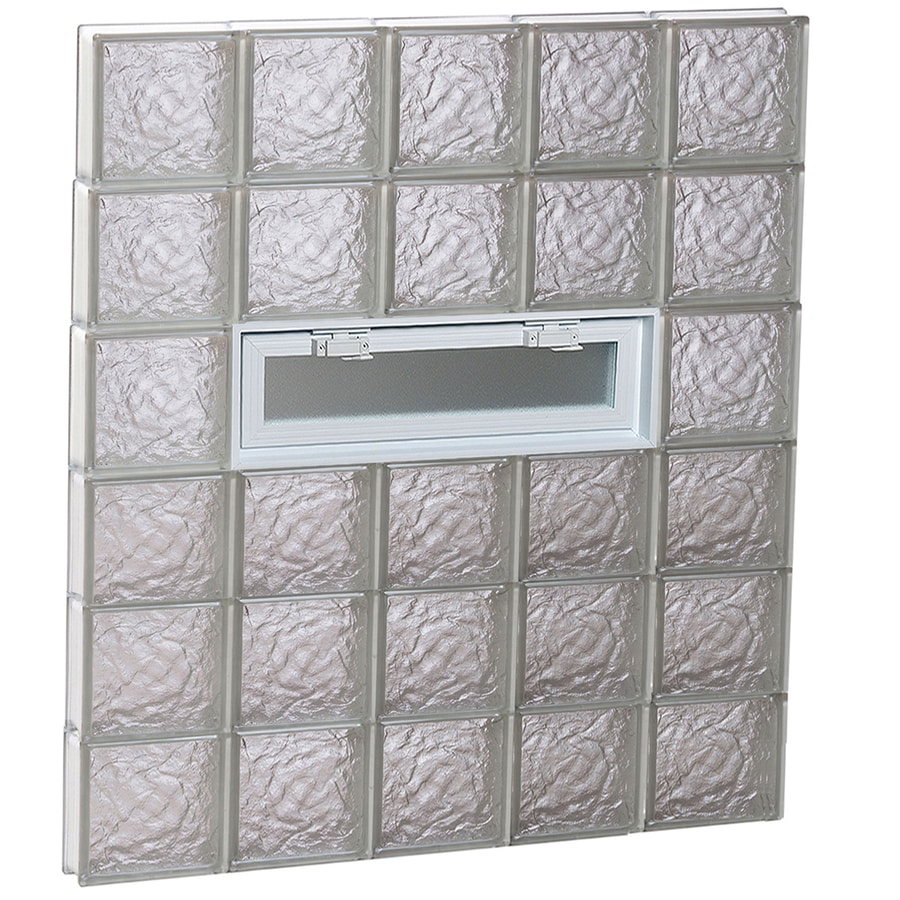 REDI2SET Ice Glass Pattern Frameless Replacement Glass Block Window (Rough Opening: 40-in x 48-in; Actual: 38.75-in x 46.5-in)