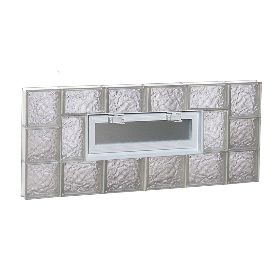 REDI2SET Ice Glass Pattern Frameless Replacement Glass Block Window (Rough Opening: 44-in x 18-in; Actual: 42.5-in x 17.25-in)