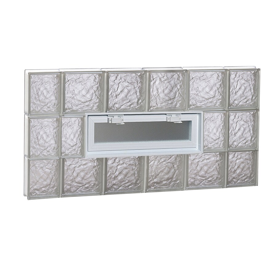REDI2SET Ice Glass Pattern Frameless Replacement Glass Block Window (Rough Opening: 44-in x 24-in; Actual: 42.5-in x 23.25-in)