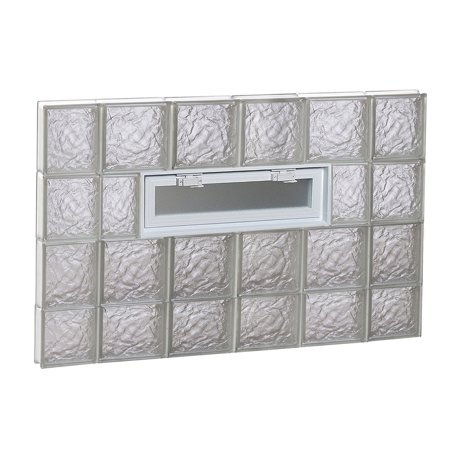 REDI2SET Ice Pattern Frameless Replacement Glass Block Window (Rough Opening: 44-in x 30-in; Actual: 42.5-in x 29-in)