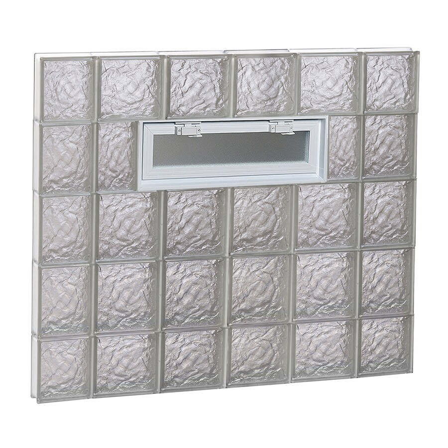 REDI2SET Ice Glass Pattern Frameless Replacement Glass Block Window (Rough Opening: 44-in x 40-in; Actual: 42.5000-in x 38.7500-in)