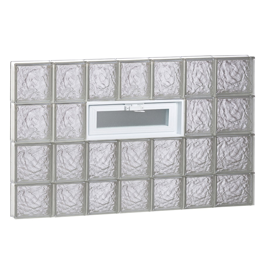 REDI2SET Ice Pattern Frameless Replacement Glass Block Window (Rough Opening: 46-in x 30-in; Actual: 44.25-in x 29-in)