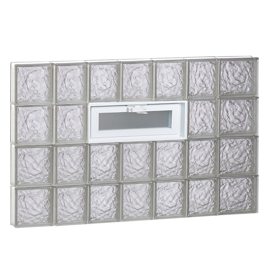REDI2SET Ice Pattern Frameless Replacement Glass Block Window (Rough Opening: 46-in x 32-in; Actual: 44.25-in x 31-in)