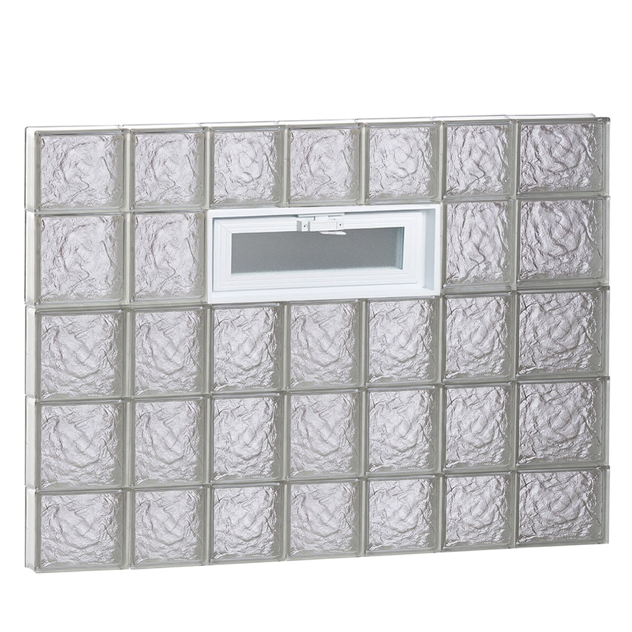 REDI2SET Ice Pattern Frameless Replacement Glass Block Window (Rough Opening: 46-in x 36-in; Actual: 44.25-in x 34.75-in)