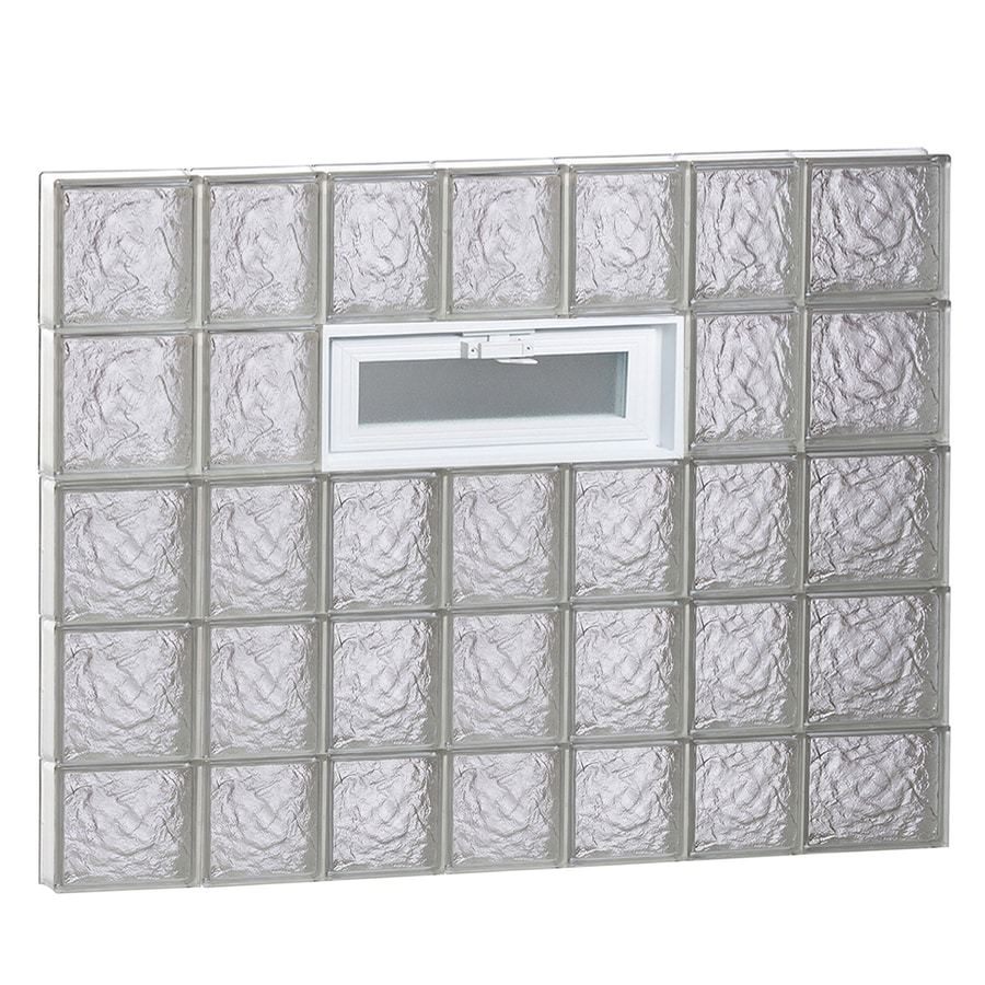 REDI2SET Ice Pattern Frameless Replacement Glass Block Window (Rough Opening: 46-in x 38-in; Actual: 44.25-in x 36.75-in)