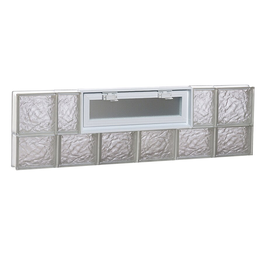 REDI2SET Ice Pattern Frameless Replacement Glass Block Window (Rough Opening: 48-in x 14-in; Actual: 46.5-in x 13.5-in)