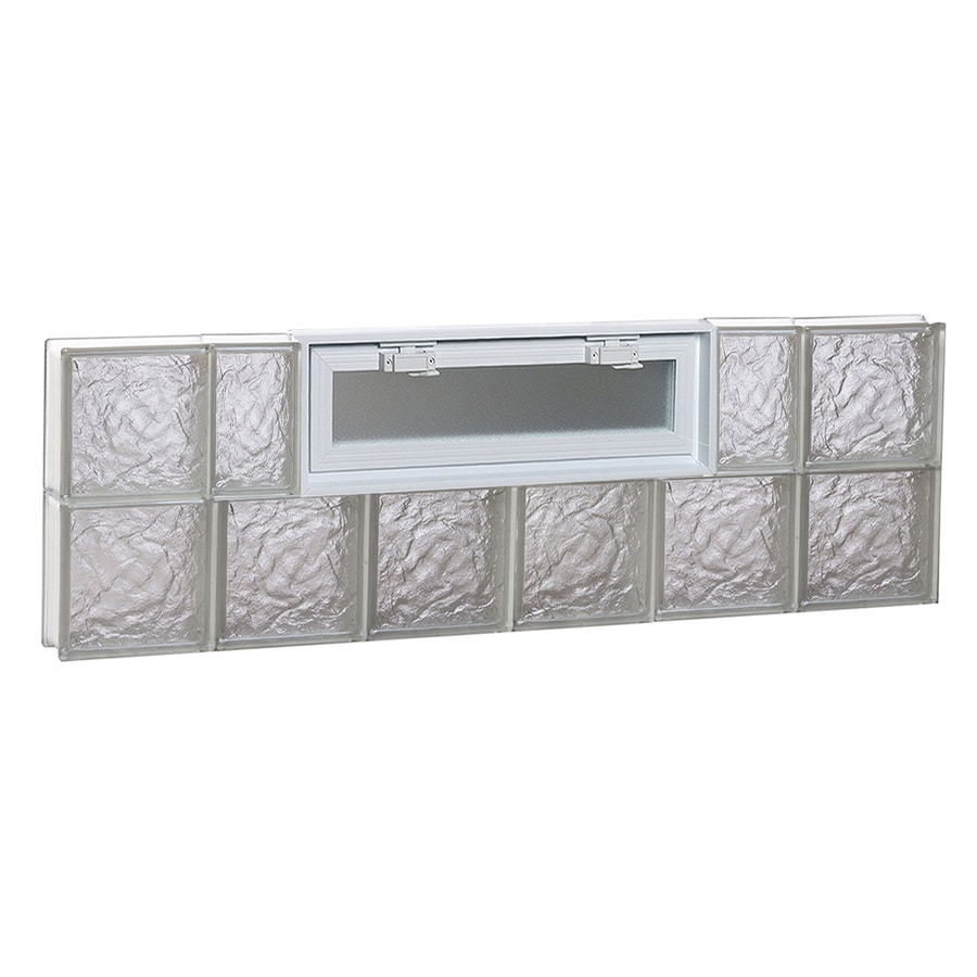 REDI2SET Ice Pattern Frameless Replacement Glass Block Window (Rough Opening: 48-in x 16-in; Actual: 46.5-in x 15.5-in)