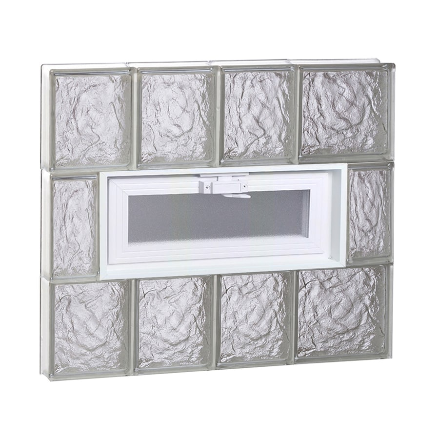 REDI2SET Ice Glass Pattern Frameless Replacement Glass Block Window (Rough Opening: 26-in x 24-in; Actual: 25-in x 23.25-in)