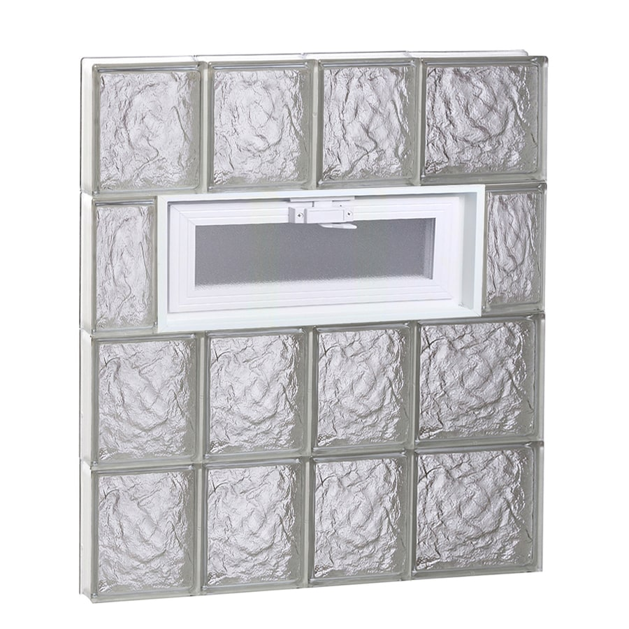 REDI2SET Ice Glass Pattern Frameless Replacement Glass Block Window (Rough Opening: 26-in x 32-in; Actual: 25-in x 31-in)