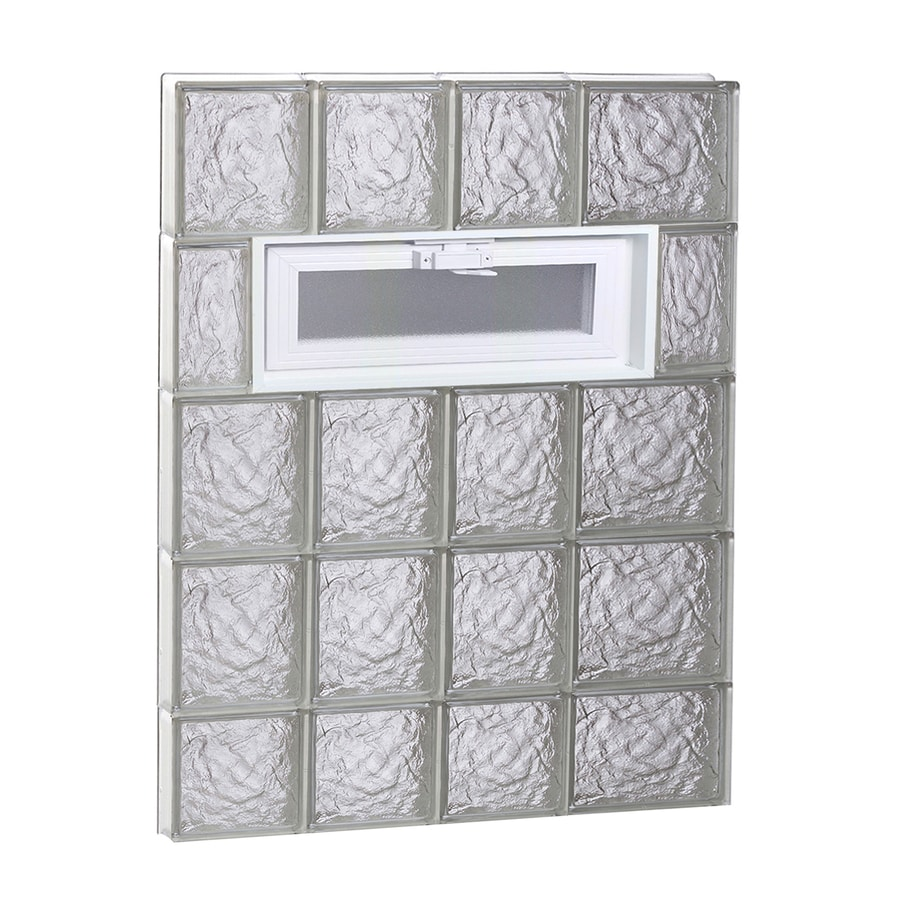 REDI2SET Ice Glass Pattern Frameless Replacement Glass Block Window (Rough Opening: 26-in x 38-in; Actual: 25-in x 36.75-in)