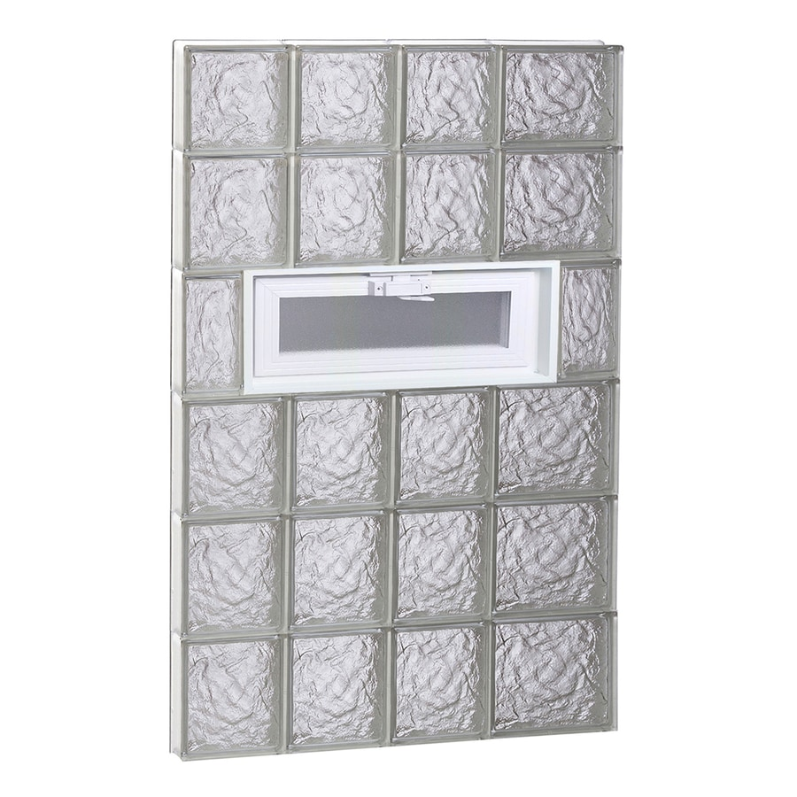 REDI2SET Ice Pattern Frameless Replacement Glass Block Window (Rough Opening: 26-in x 46-in; Actual: 25-in x 44.5-in)