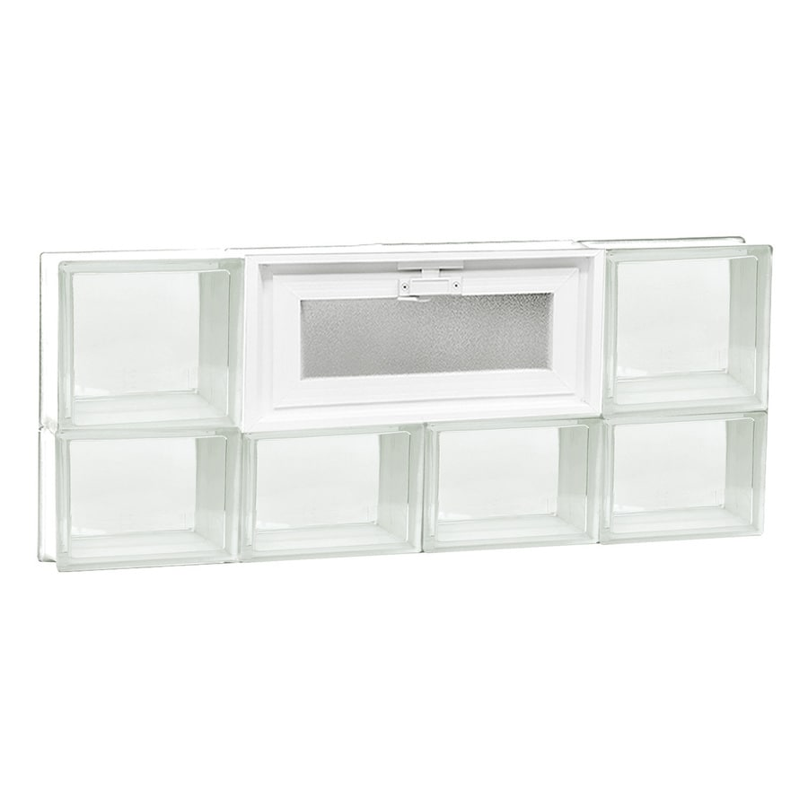 REDI2SET Clear Glass Pattern Frameless Replacement Glass Block Window (Rough Opening: 32-in x 14-in; Actual: 31-in x 13.5-in)