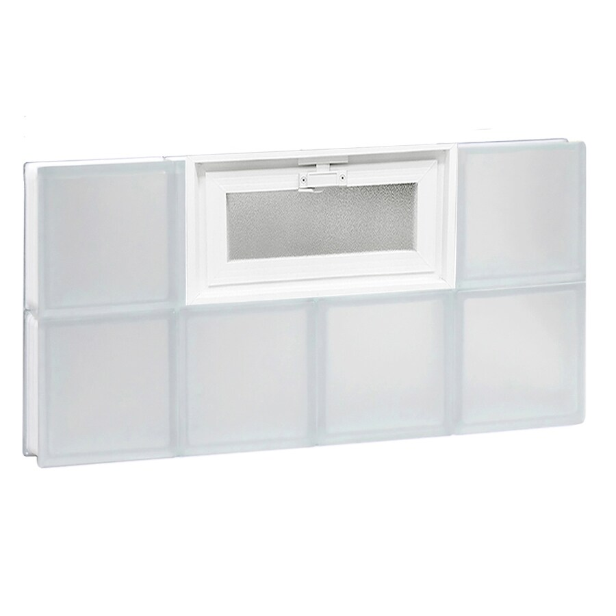 REDI2SET Frosted Glass Pattern Frameless Replacement Glass Block Window (Rough Opening: 32-in x 16-in; Actual: 31-in x 15.5-in)
