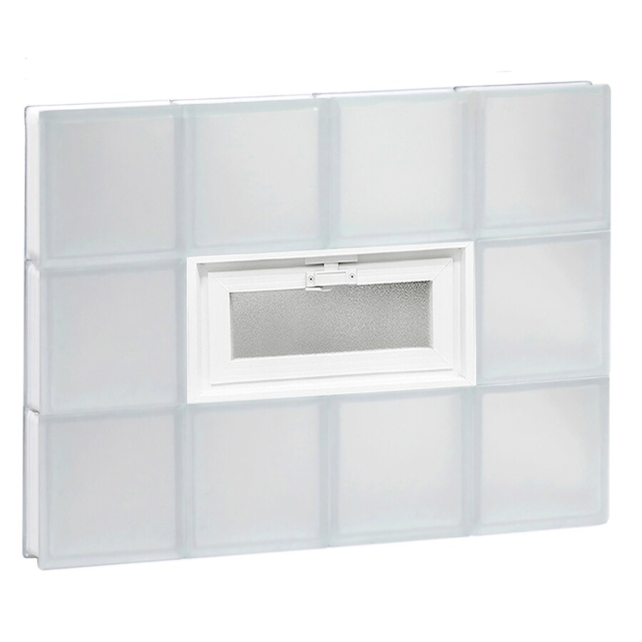 REDI2SET Frosted Glass Pattern Frameless Replacement Glass Block Window (Rough Opening: 32-in x 24-in; Actual: 31-in x 23.25-in)
