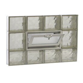 Redi2set Wavy Bronze Gl Pattern Frameless Replacement Block Window Rough Opening 32