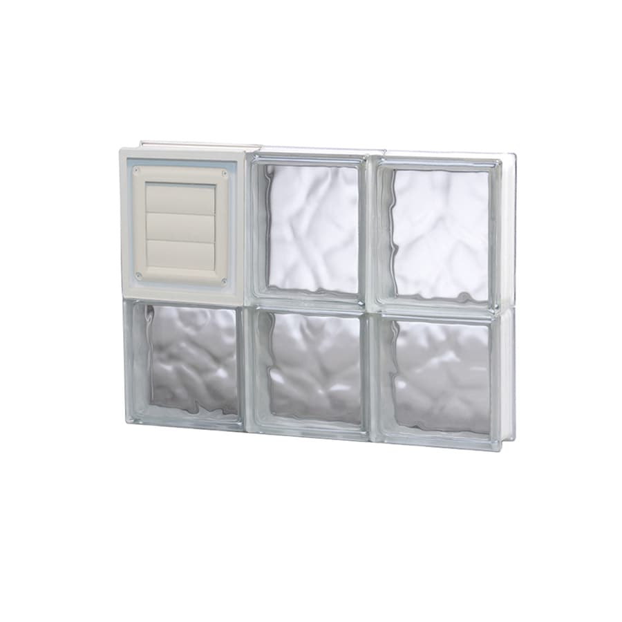 REDI2SET Wavy Glass Pattern Frameless Replacement Glass Block Window (Rough Opening: 18-in x 14-in; Actual: 17.25-in x 13.5-in)
