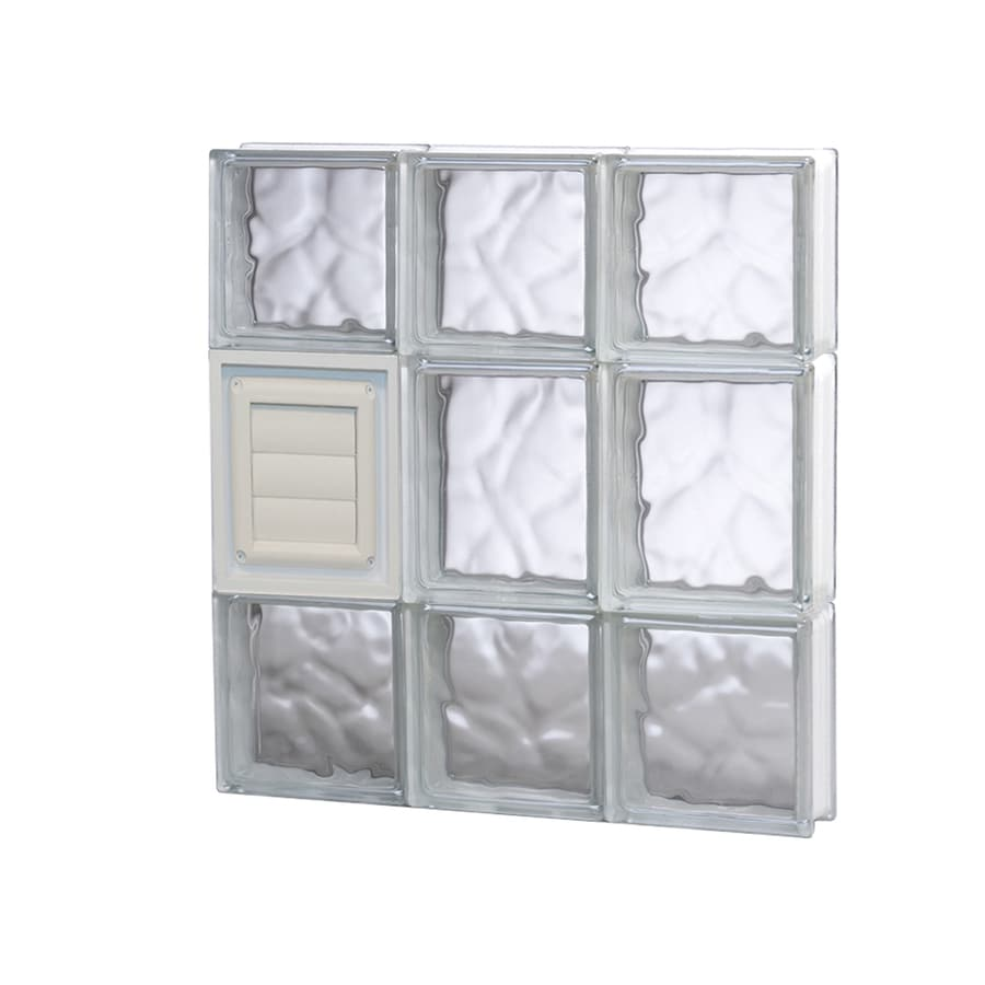 REDI2SET Wavy Glass Pattern Frameless Replacement Glass Block Window (Rough Opening: 18-in x 20-in; Actual: 17.25-in x 19.25-in)