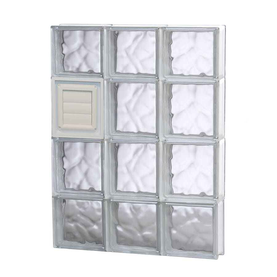 REDI2SET Wavy Glass Pattern Frameless Replacement Glass Block Window (Rough Opening: 18-in x 28-in; Actual: 17.25-in x 27-in)
