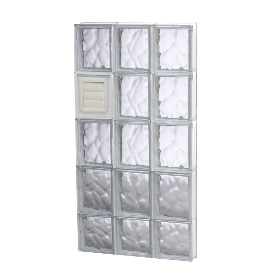 REDI2SET Wavy Glass Pattern Frameless Replacement Glass Block Window (Rough Opening: 18-in x 38-in; Actual: 17.25-in x 36.75-in)