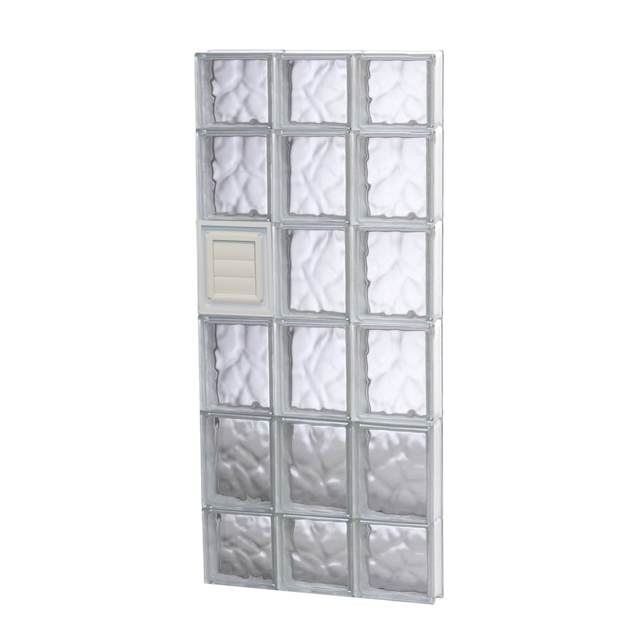 REDI2SET Wavy Glass Pattern Frameless Replacement Glass Block Window (Rough Opening: 18-in x 44-in; Actual: 17.25-in x 42.5-in)