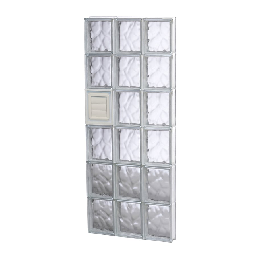REDI2SET Wavy Glass Pattern Frameless Replacement Glass Block Window (Rough Opening: 18-in x 48-in; Actual: 17.2500-in x 46.5000-in)