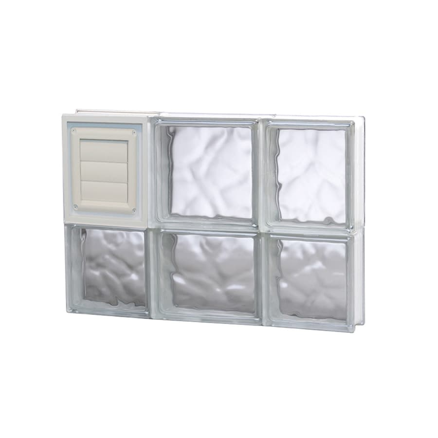 REDI2SET Wavy Glass Pattern Frameless Replacement Glass Block Window (Rough Opening: 20-in x 14-in; Actual: 19.2500-in x 13.5000-in)