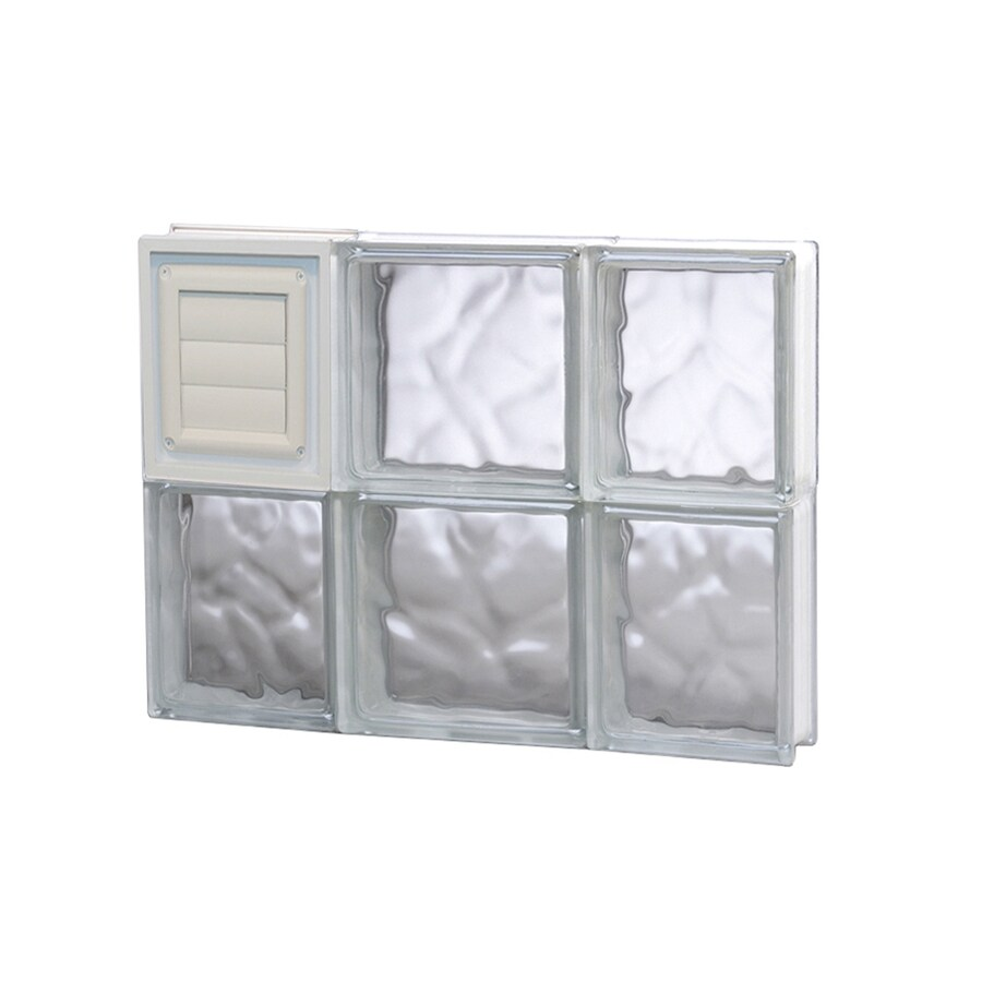 REDI2SET Wavy Glass Pattern Frameless Replacement Glass Block Window (Rough Opening: 20-in x 16-in; Actual: 19.25-in x 15.5-in)