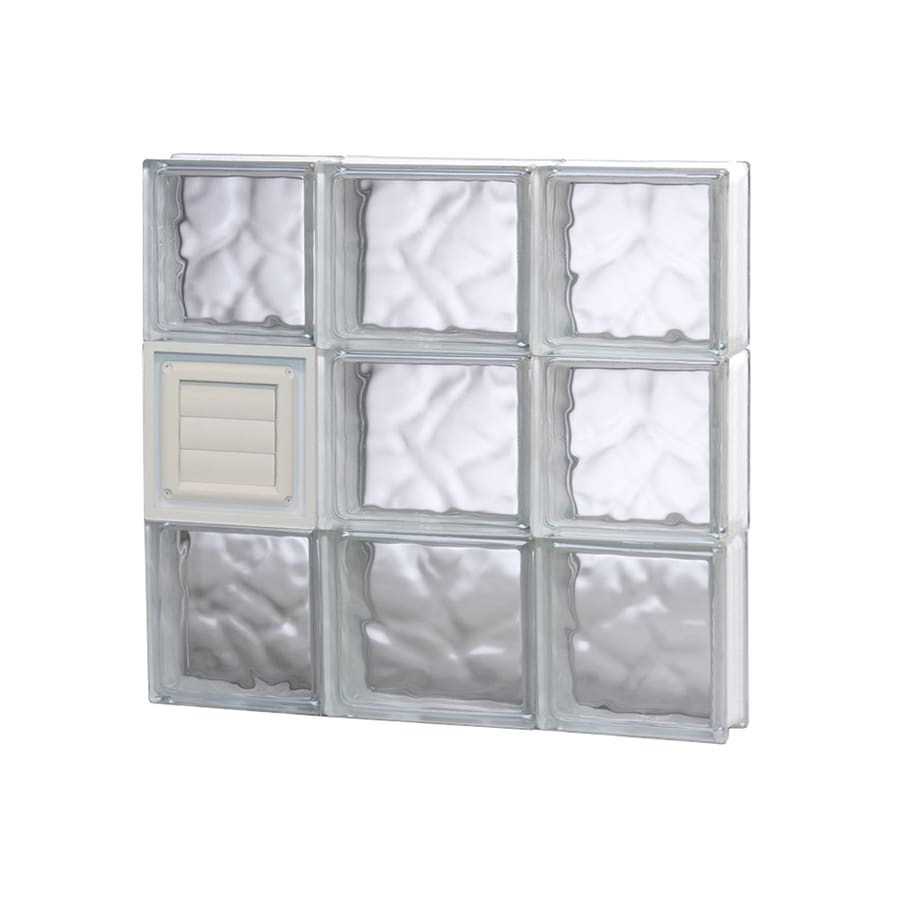 REDI2SET Wavy Glass Frameless Replacement Glass Block Window (Rough Opening: 20-in x 18-in; Actual: 19.25-in x 17.25-in)