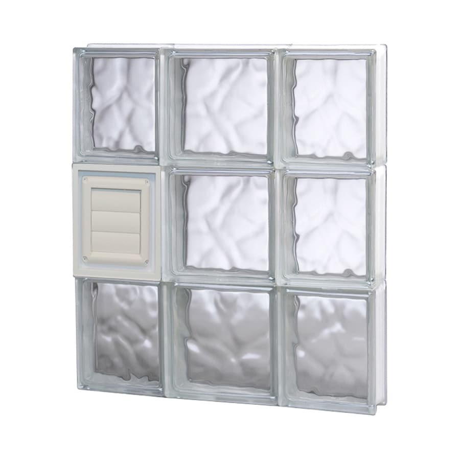 REDI2SET Wavy Glass Pattern Frameless Replacement Glass Block Window (Rough Opening: 20-in x 24-in; Actual: 19.25-in x 23.25-in)