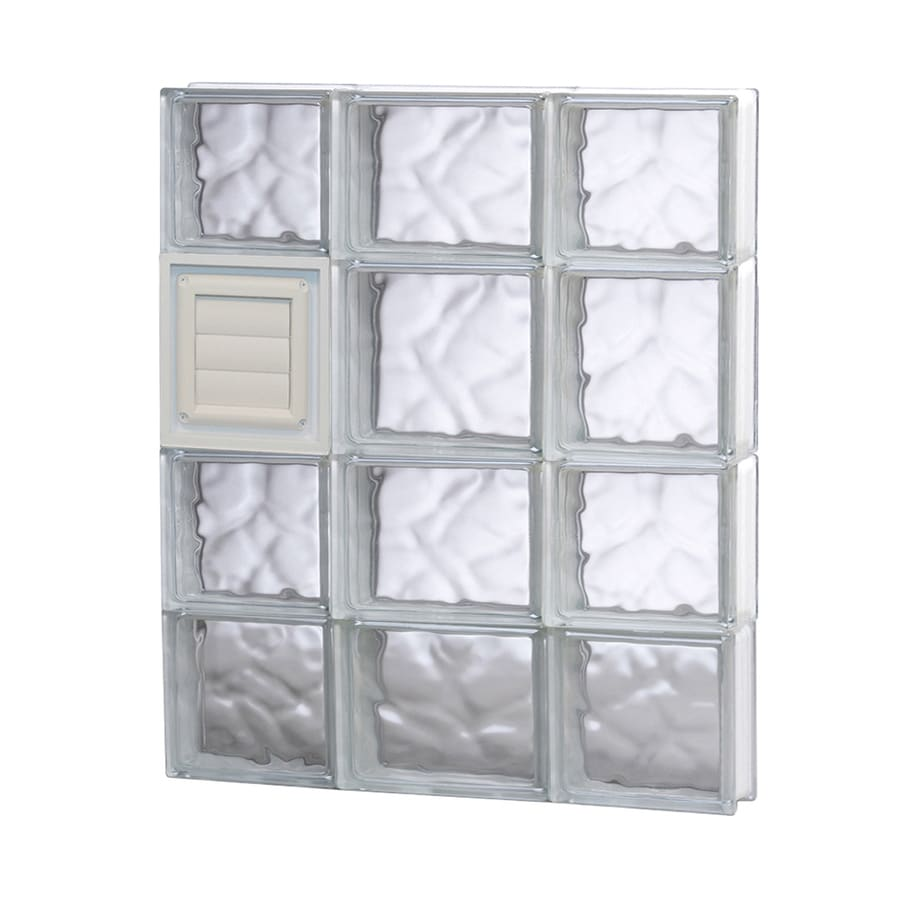 REDI2SET Wavy Glass Pattern Frameless Replacement Glass Block Window (Rough Opening: 20-in x 26-in; Actual: 19.25-in x 25-in)