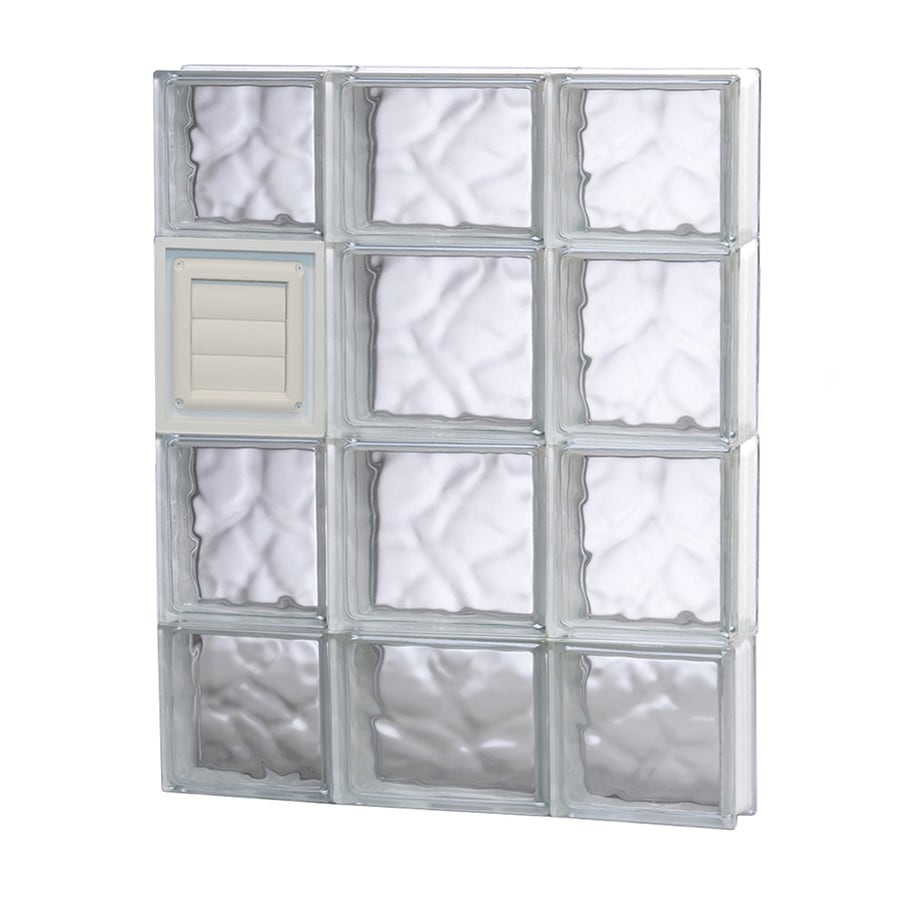 REDI2SET Wavy Glass Pattern Frameless Replacement Glass Block Window (Rough Opening: 20-in x 28-in; Actual: 19.25-in x 27-in)