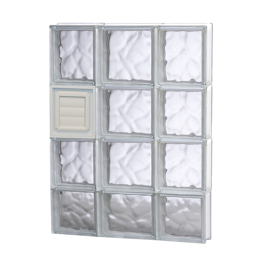 REDI2SET Wavy Glass Pattern Frameless Replacement Glass Block Window (Rough Opening: 20-in x 30-in; Actual: 19.25-in x 29-in)