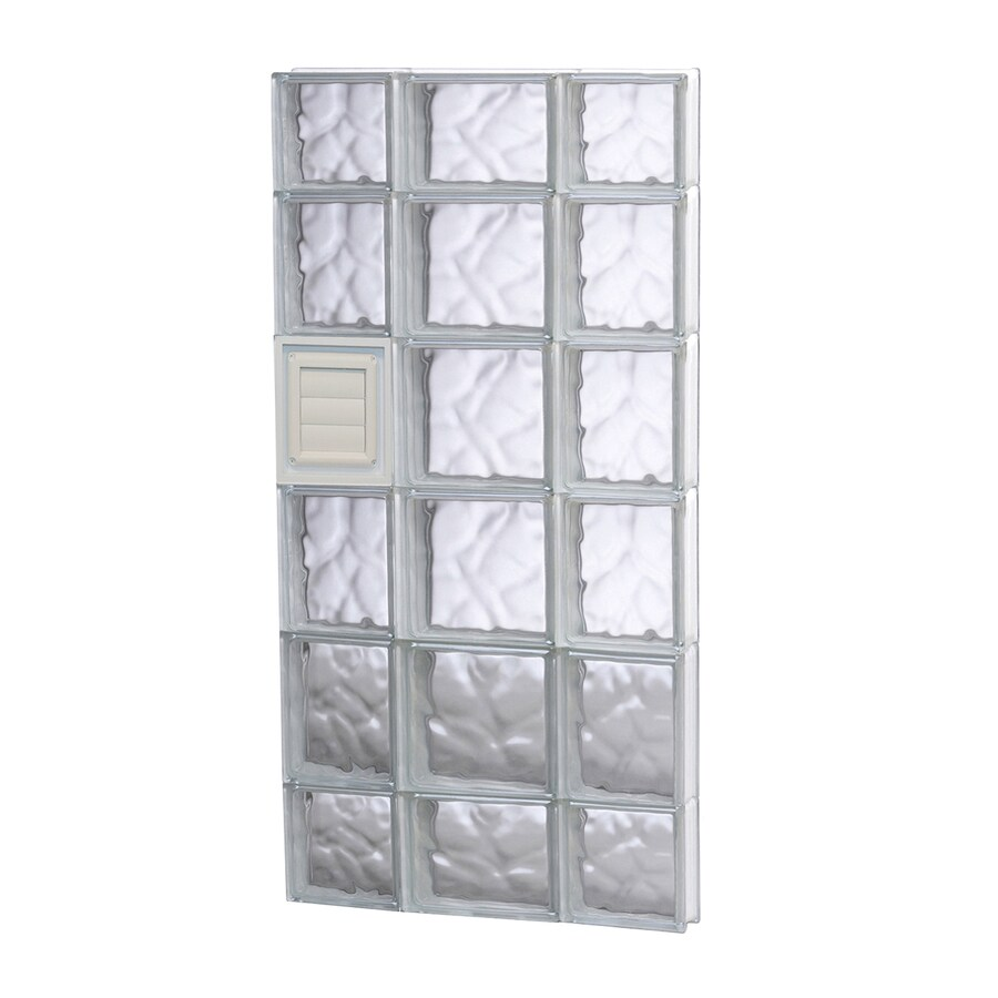 REDI2SET Wavy Pattern Frameless Replacement Glass Block Window (Rough Opening: 20-in x 44-in; Actual: 19.25-in x 42.5-in)