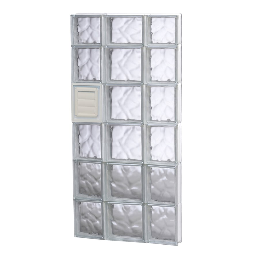 REDI2SET Wavy Glass Pattern Frameless Replacement Glass Block Window (Rough Opening: 20-in x 46-in; Actual: 19.25-in x 44.5-in)