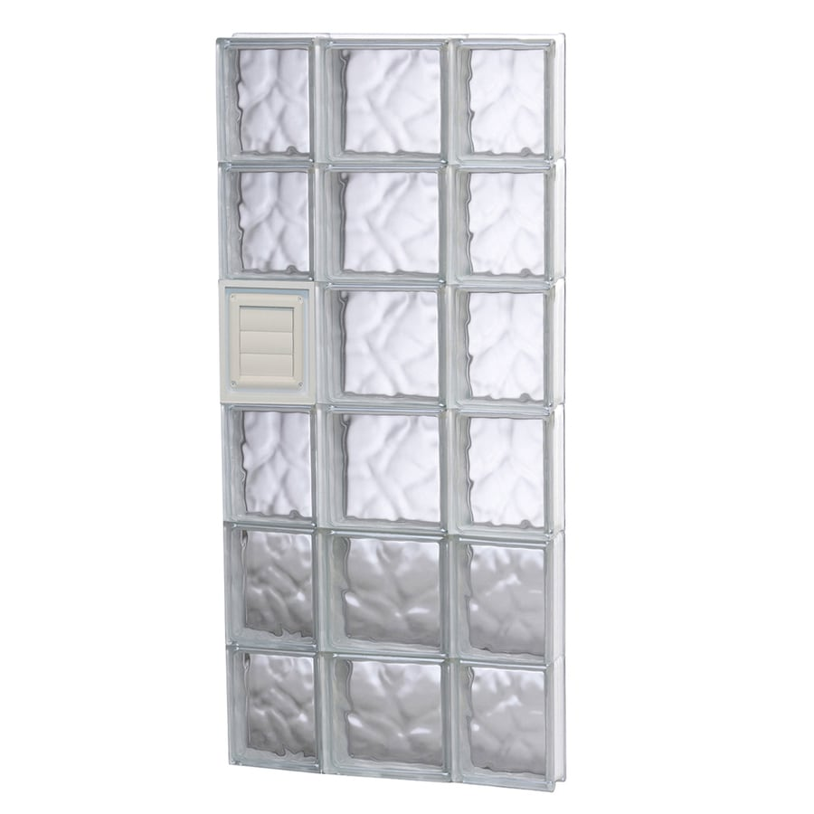 REDI2SET Wavy Pattern Frameless Replacement Glass Block Window (Rough Opening: 20-in x 48-in; Actual: 19.25-in x 46.5-in)