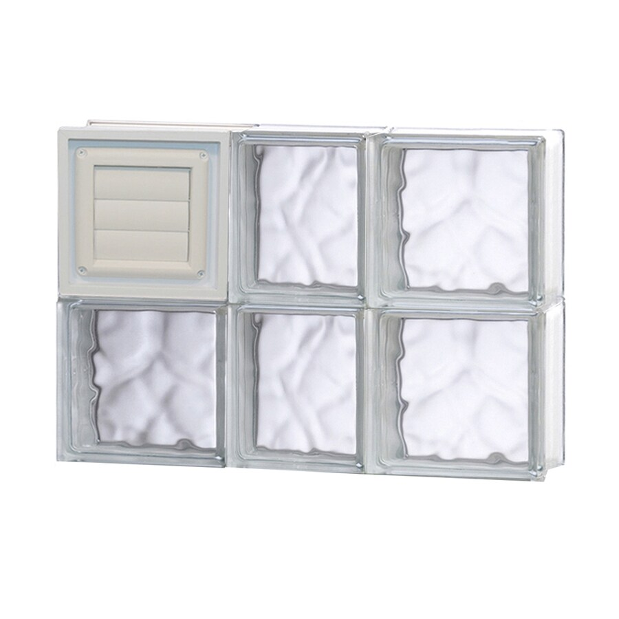 REDI2SET Wavy Pattern Frameless Replacement Glass Block Window (Rough Opening: 22-in x 16-in; Actual: 21.25-in x 15.5-in)