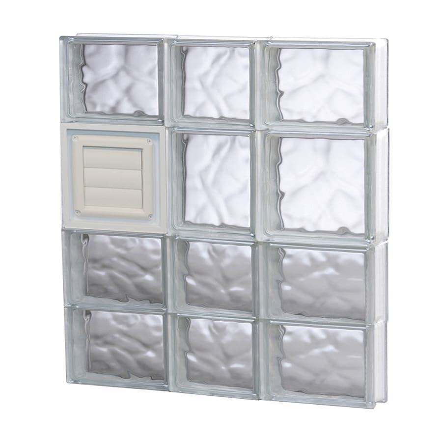 REDI2SET Wavy Glass Pattern Frameless Replacement Glass Block Window (Rough Opening: 22-in x 26-in; Actual: 21.25-in x 25-in)