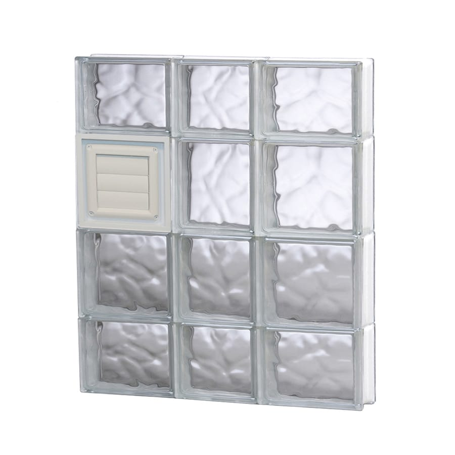 REDI2SET Wavy Glass Pattern Frameless Replacement Glass Block Window (Rough Opening: 22-in x 28-in; Actual: 21.25-in x 27-in)