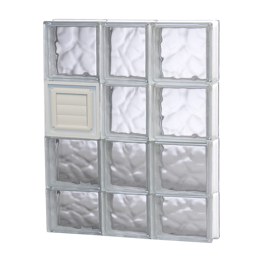 REDI2SET Wavy Glass Pattern Frameless Replacement Glass Block Window (Rough Opening: 22-in x 30-in; Actual: 21.25-in x 29-in)