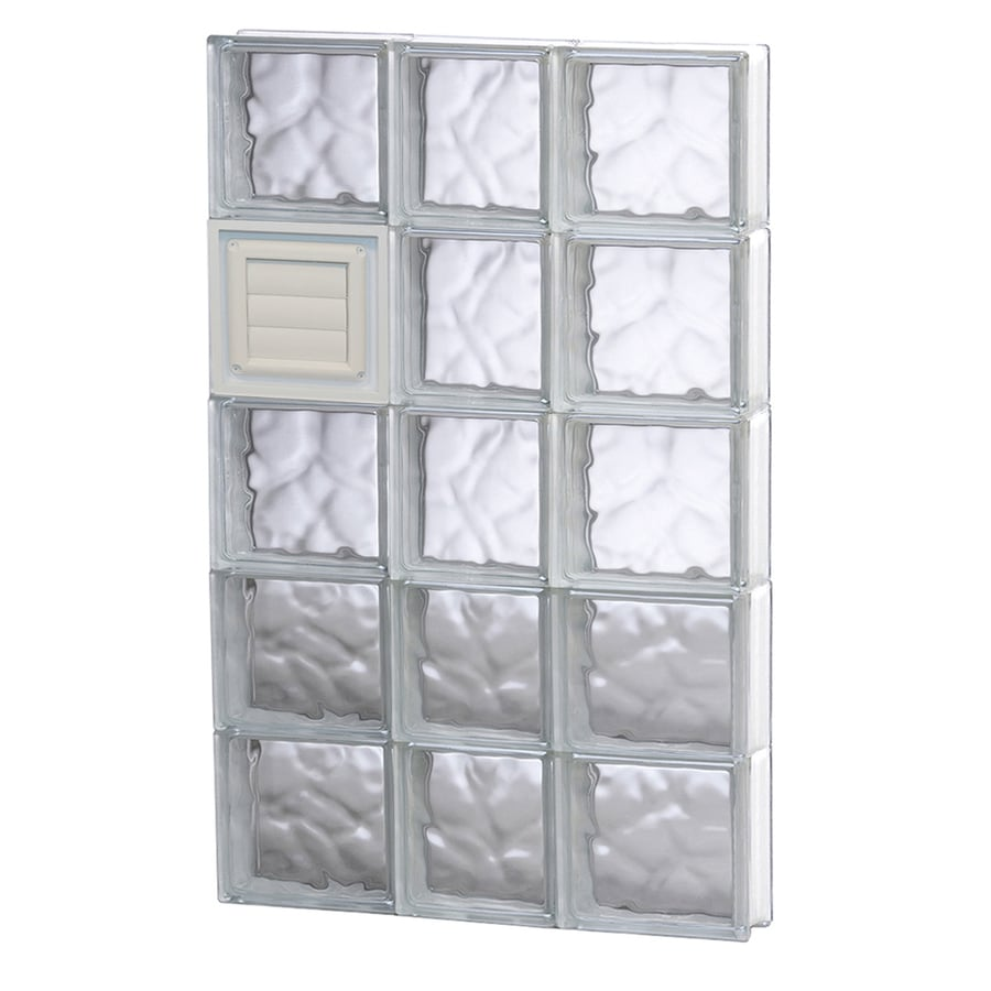 REDI2SET Wavy Glass Pattern Frameless Replacement Glass Block Window (Rough Opening: 22-in x 40-in; Actual: 21.25-in x 38.75-in)