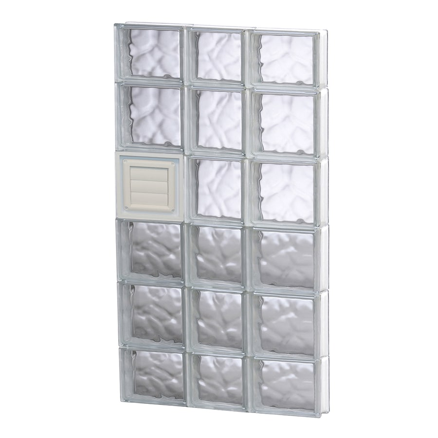 REDI2SET Wavy Glass Pattern Frameless Replacement Glass Block Window (Rough Opening: 22-in x 44-in; Actual: 21.25-in x 42.5-in)