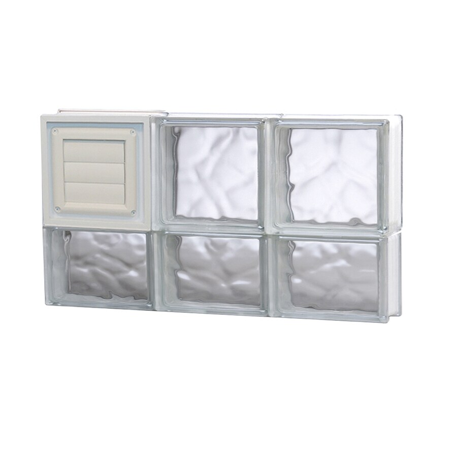Shop redi2set wavy glass pattern frameless replacement for Acrylic block window