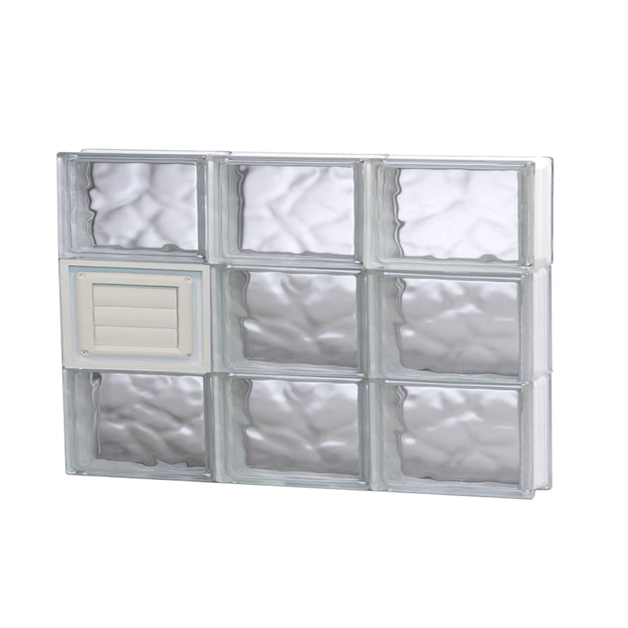 REDI2SET Wavy Glass Pattern Frameless Replacement Glass Block Window (Rough Opening: 24-in x 18-in; Actual: 23.25-in x 17.25-in)